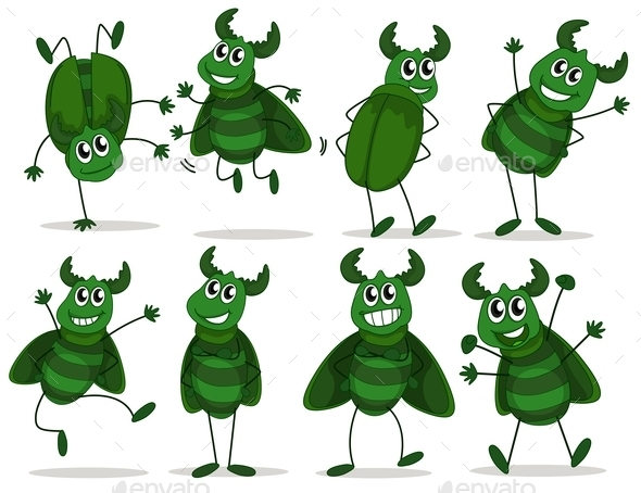 Green Bugs - Animals Characters