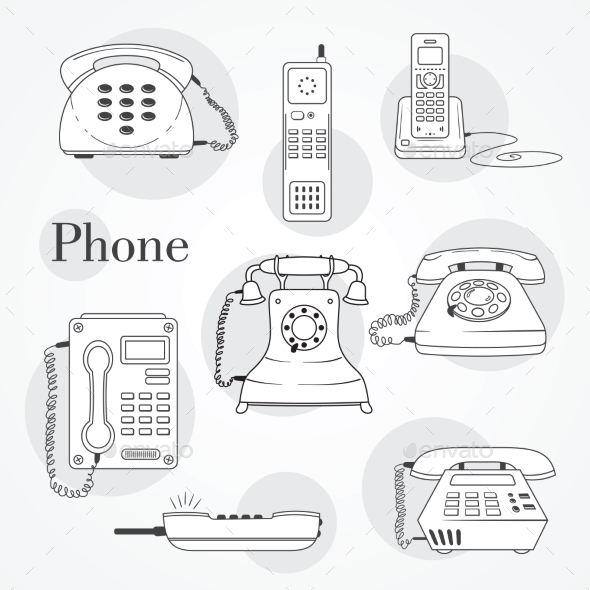 Phone Set - Retro Technology