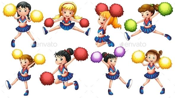 Cheerleaders - People Characters