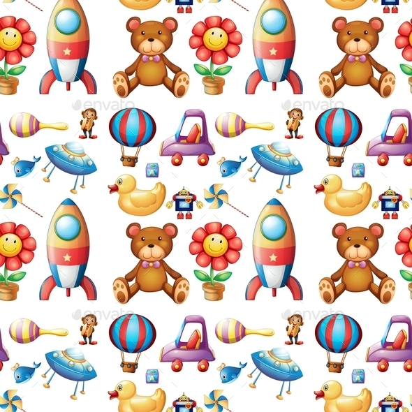 Seamless Toys - Backgrounds Decorative