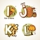 Alphabet Set from I to L - GraphicRiver Item for Sale