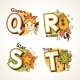 Alphabet Set from Q to T - GraphicRiver Item for Sale