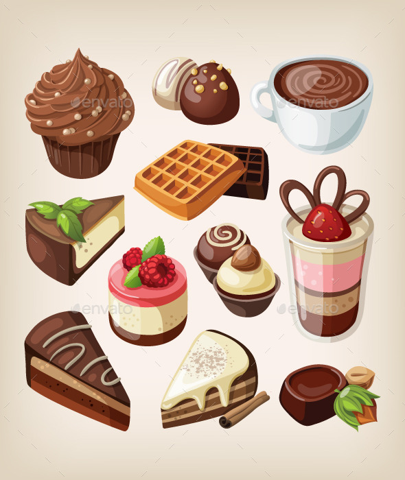 Set of Chocolates - Food Objects