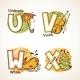 Alphabet Set from U to X - GraphicRiver Item for Sale