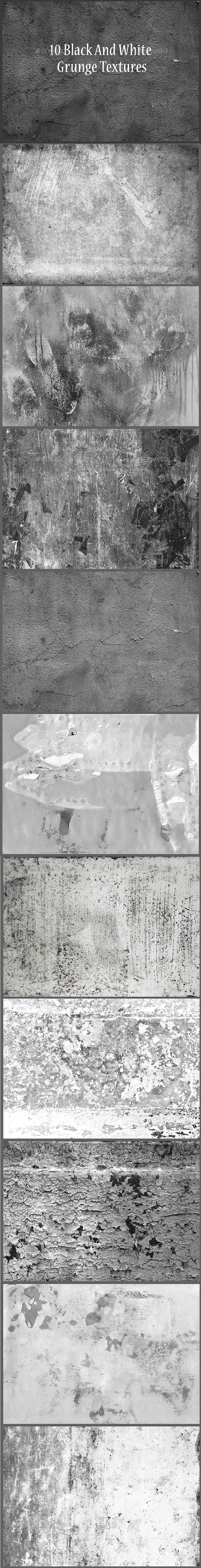 10 Black And White Grunge Textures - Textures