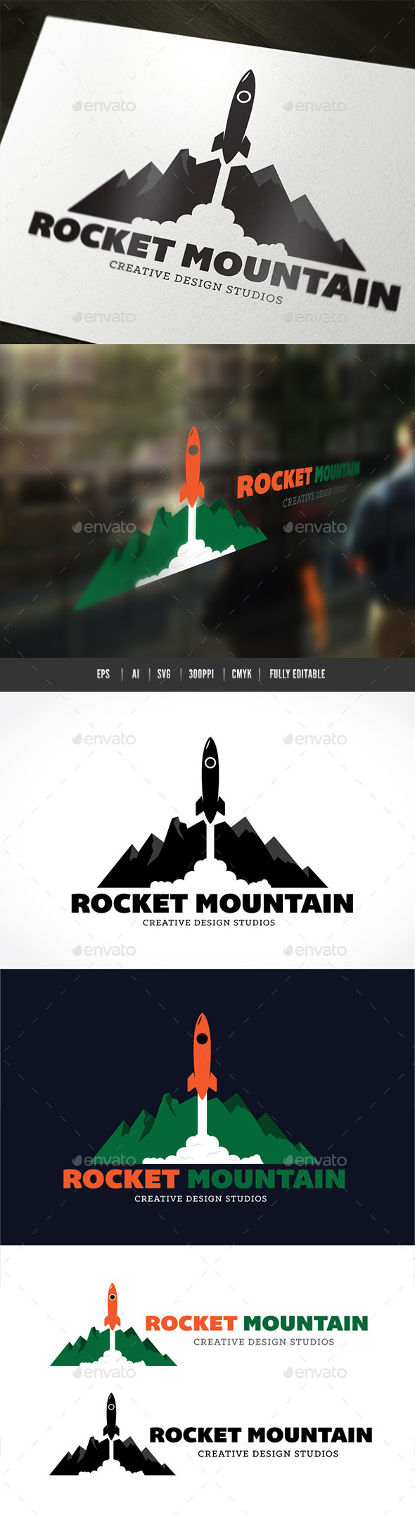 Rocket Mountain  - Objects Logo Templates