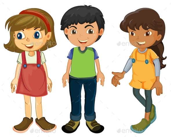 Three Kids - People Characters