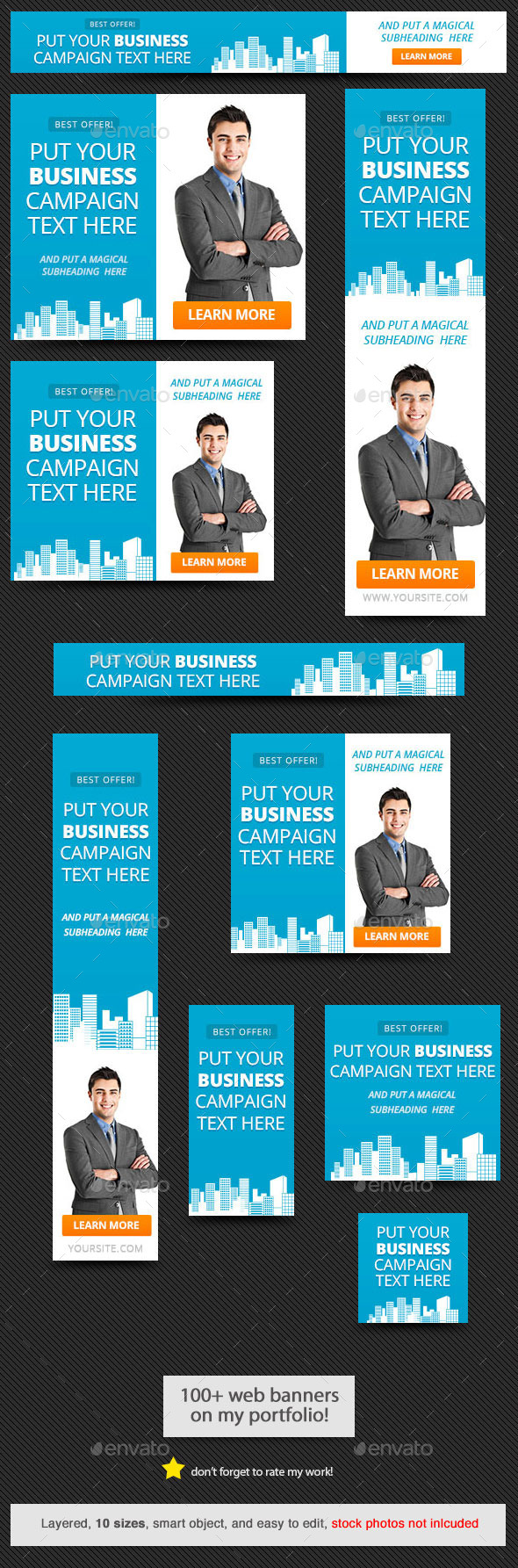 Corporate Web Banner Design Template 57 - Banners & Ads Web Elements