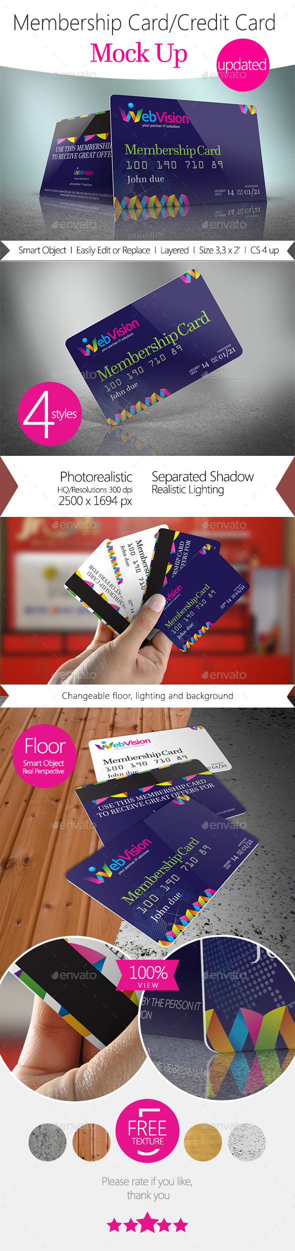 Membership Card/Credit Card Mock Up - Miscellaneous Print