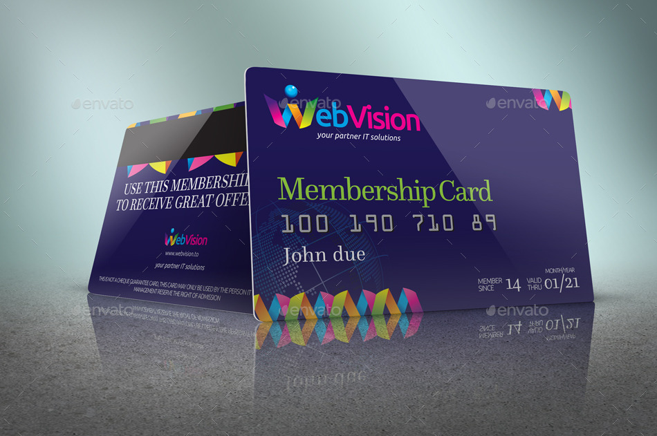 Membership Card/Credit Card Mock Up by JROHCreative | GraphicRiver