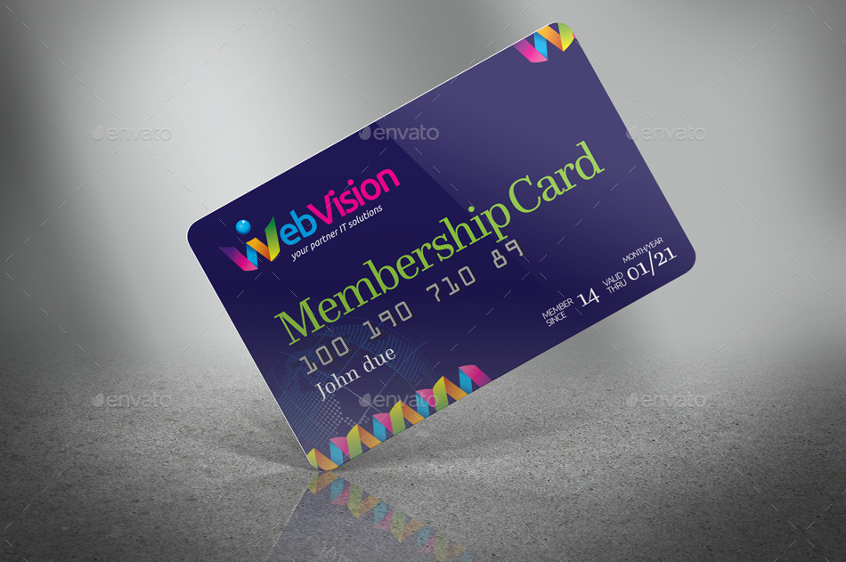 Membership CardCredit Card Mock Up By Jrohcreative  Graphicriver