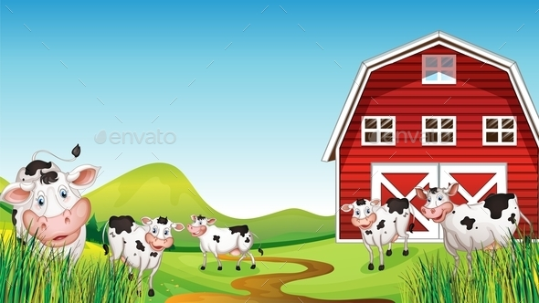 Dairy Farm Set - Buildings Objects