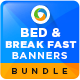 Bed and Breakfast Banners Bundle - 3 Sets - GraphicRiver Item for Sale