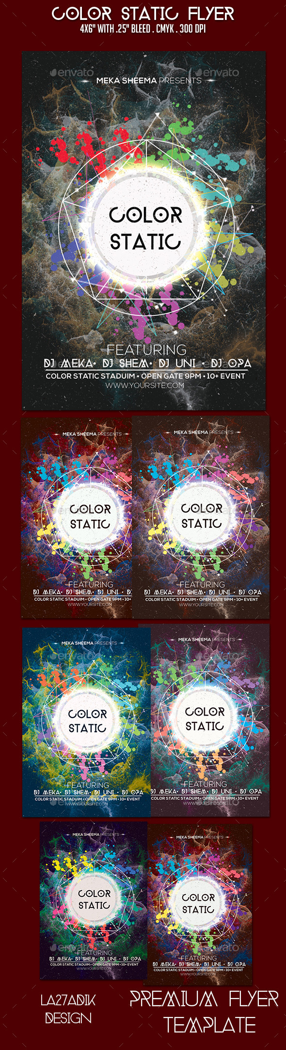 Color Static Flyer - Clubs & Parties Events