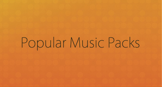 Popular Music Packs