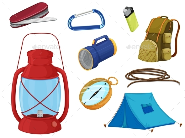 Various Objects of Camping - Man-made Objects Objects