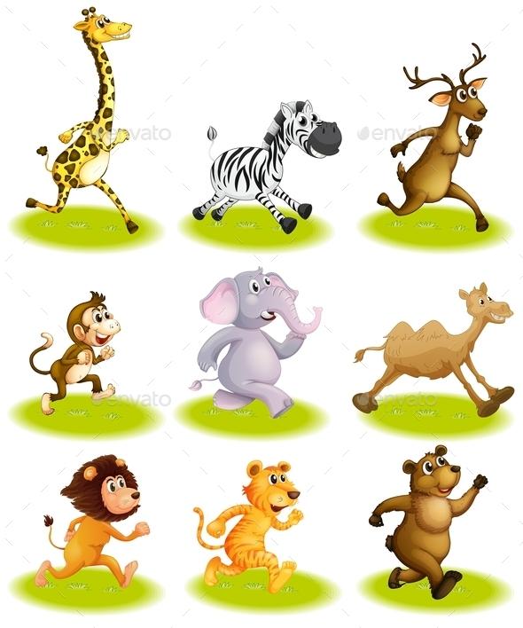 Running Animals - Animals Characters