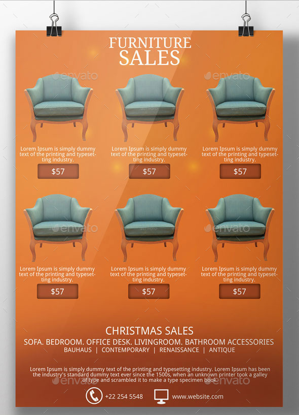 christmas sales flyer template by blogankids