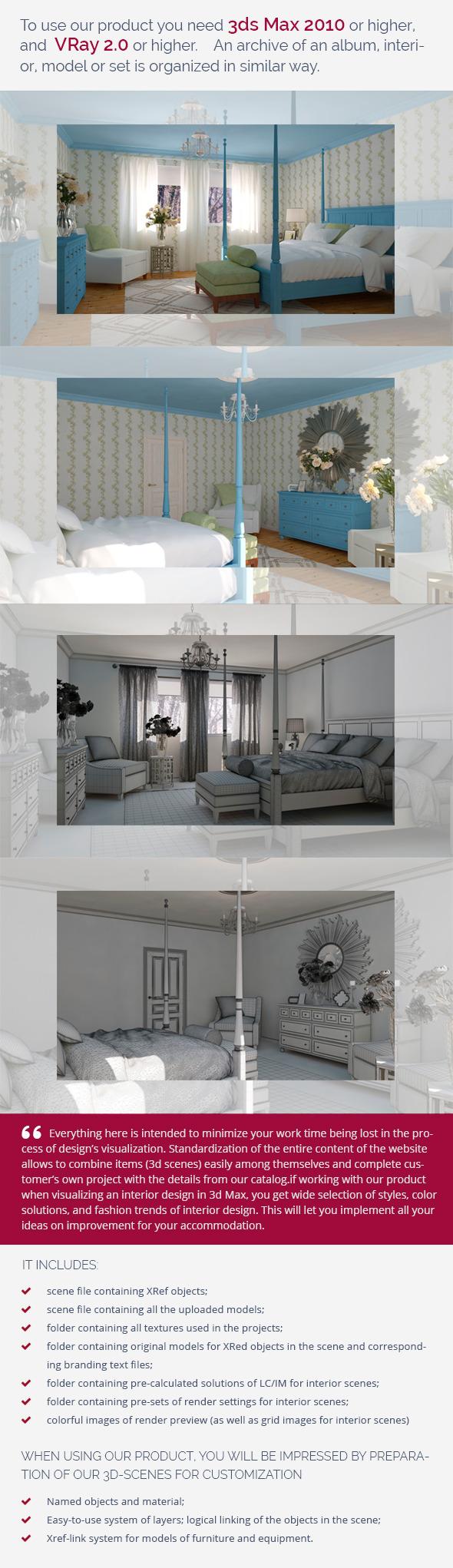 Bedrooom 0393 - 3DOcean Item for Sale