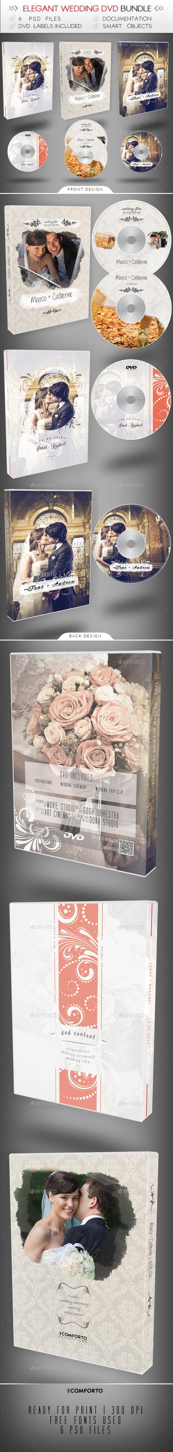 Wedding DVD Bundle - CD & DVD Artwork Print Templates