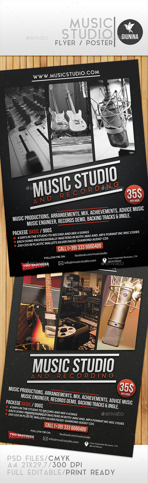 Music Studio Flyer/Poster - Commerce Flyers