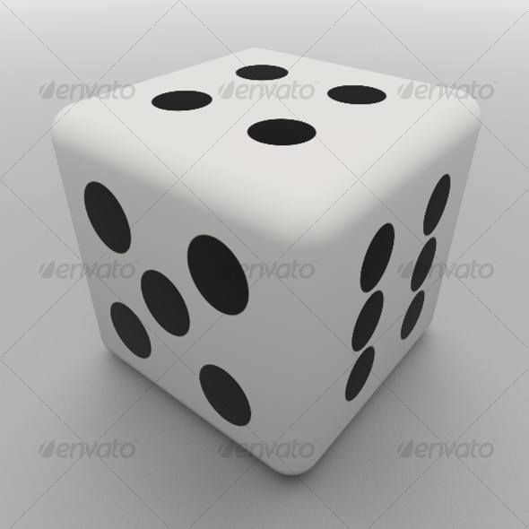 Six-sided Dice - 3DOcean Item for Sale