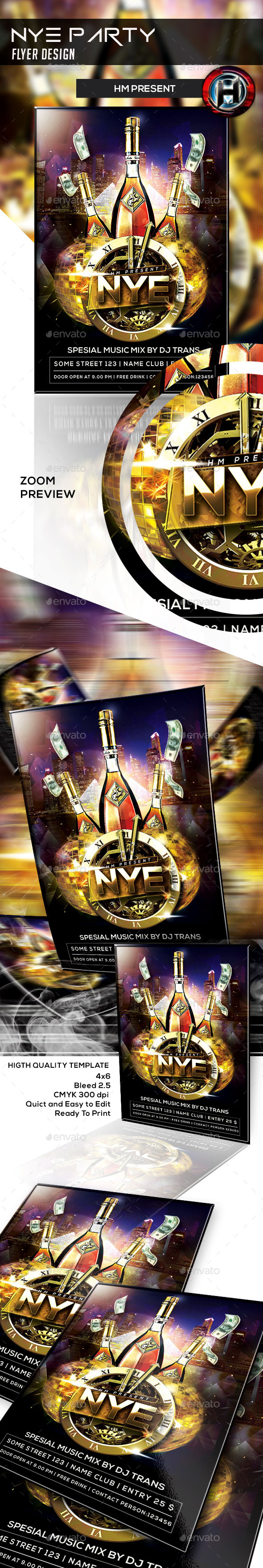 NYE flyer design - Events Flyers