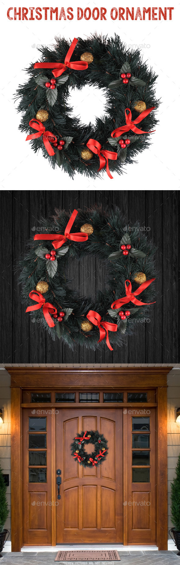 Christmas Door Ornament - Isolated Objects