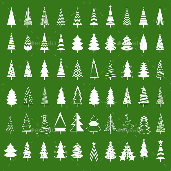 Christmas Tree Set - Christmas Seasons/Holidays