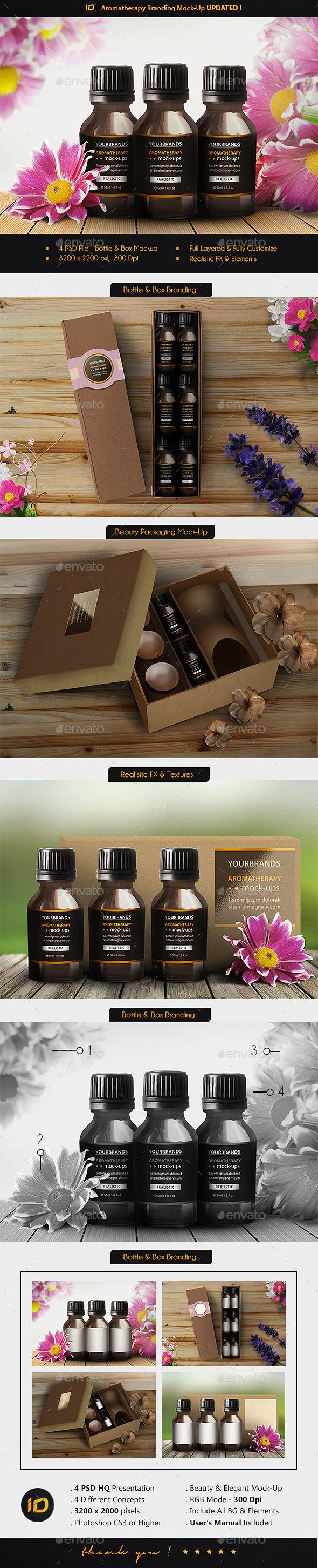 Aromatherapy Branding Mock-Up - Product Mock-Ups Graphics