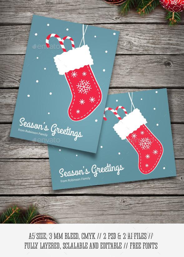 Christmas Stocking Card