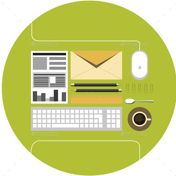 Office Flat Icon  - Communications Technology