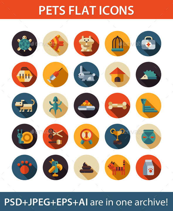 Pet Shop Icons - Miscellaneous Vectors