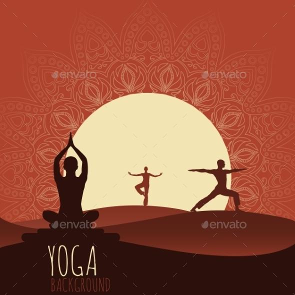 Yoga Background. - Sports/Activity Conceptual