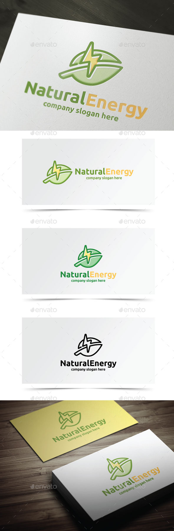Natural Energy - Objects Logo Templates
