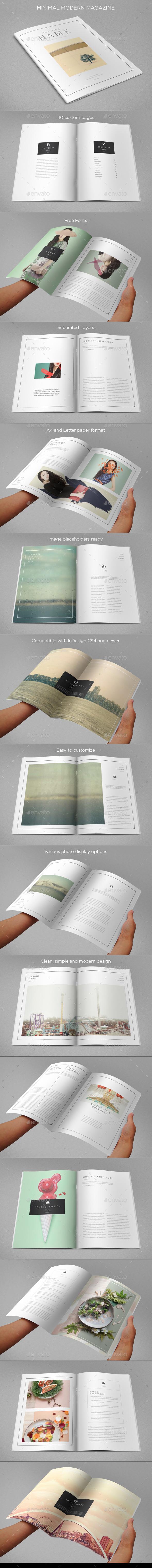Minimal Modern Magazine - Magazines Print Templates