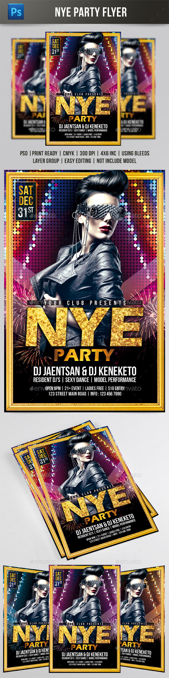 NYE Party Flyer - Events Flyers