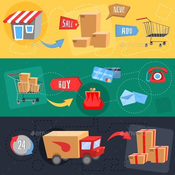 Design Concept of E-Commerce - Services Commercial / Shopping