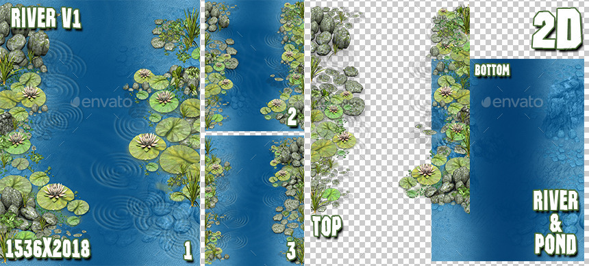 D River Pond Game Backgrounds Pack By Beatheart GraphicRiver - River game