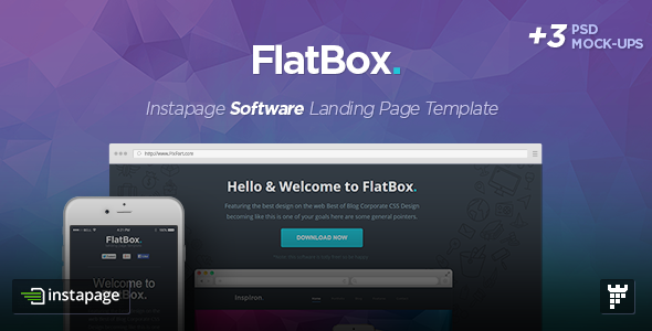 FlatBox - Instapage Startup Landing Page Template - Instapage Marketing
