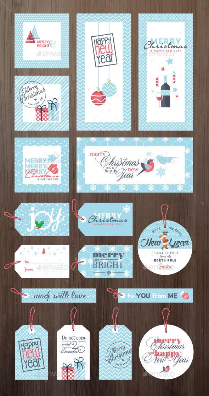Christmas and New Year Greeting Cards and Tags - Christmas Seasons/Holidays