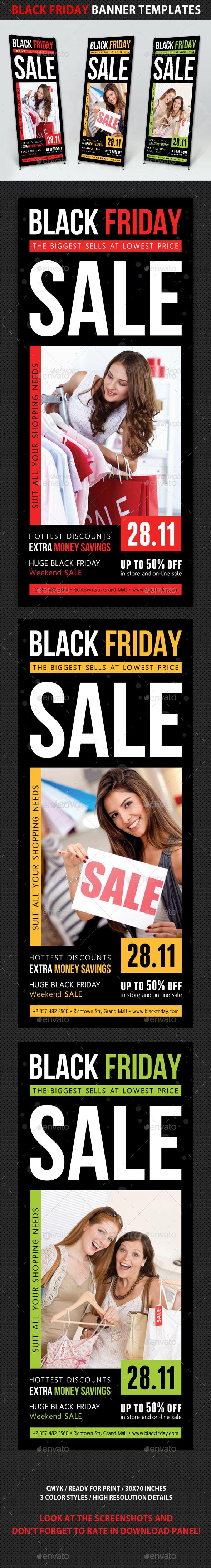 Black Friday Sale Banner Template V01 - Signage Print Templates