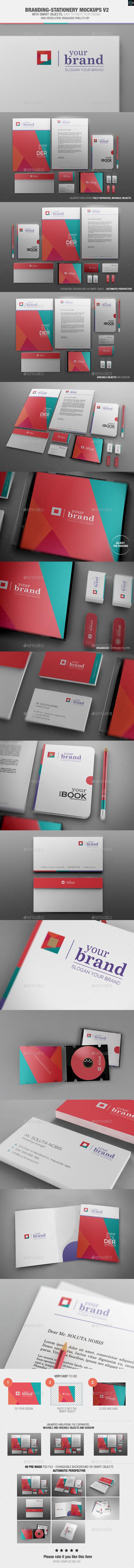 Branding-Stationery Mockups V2  - Stationery Print