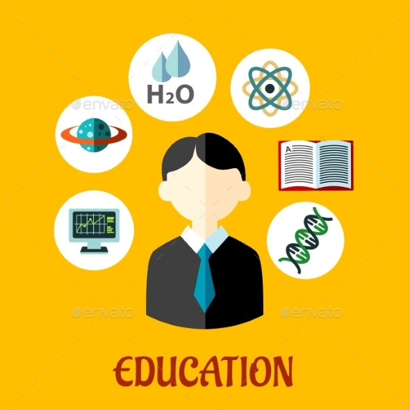 Education Flat Infographics Template - Conceptual Vectors