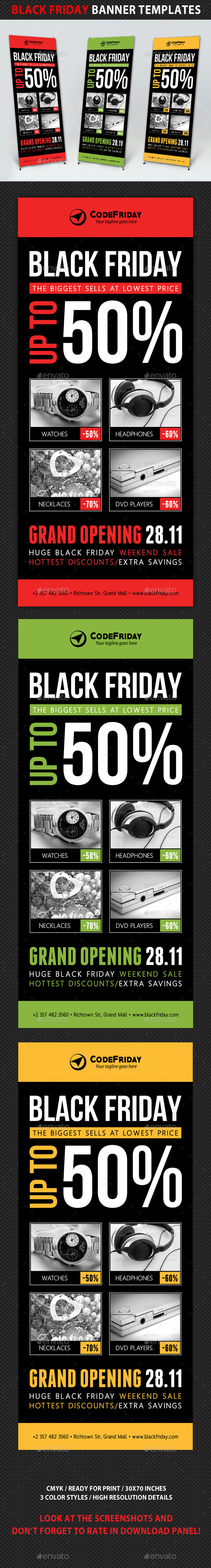 Black Friday Sale Banner Template V02 - Signage Print Templates