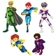 Five Superheroes - GraphicRiver Item for Sale