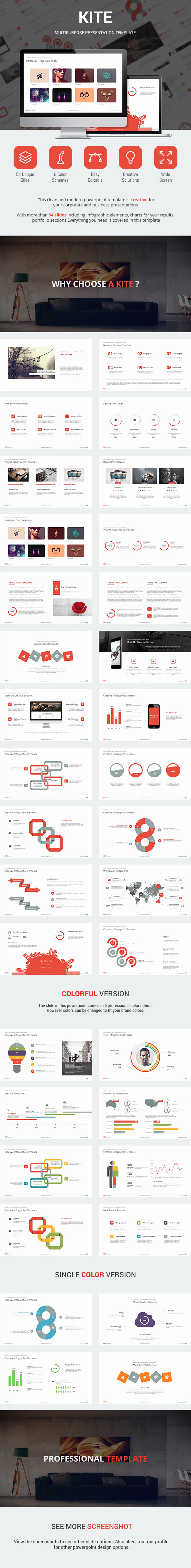 Kite - Presentation Template - Business PowerPoint Templates
