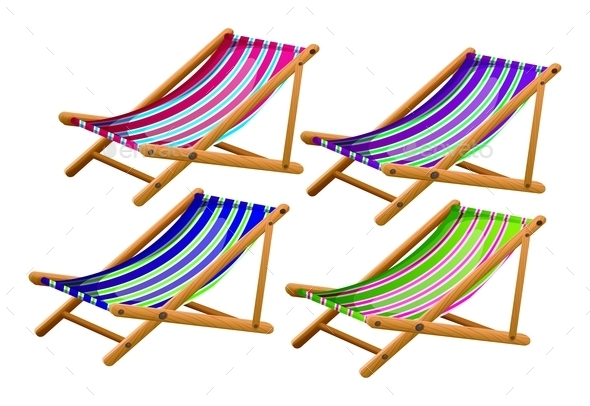 Beach Chairs - Man-made Objects Objects