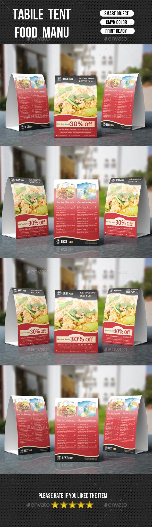 Restaurant Table Tent-V03 - Food Menus Print Templates