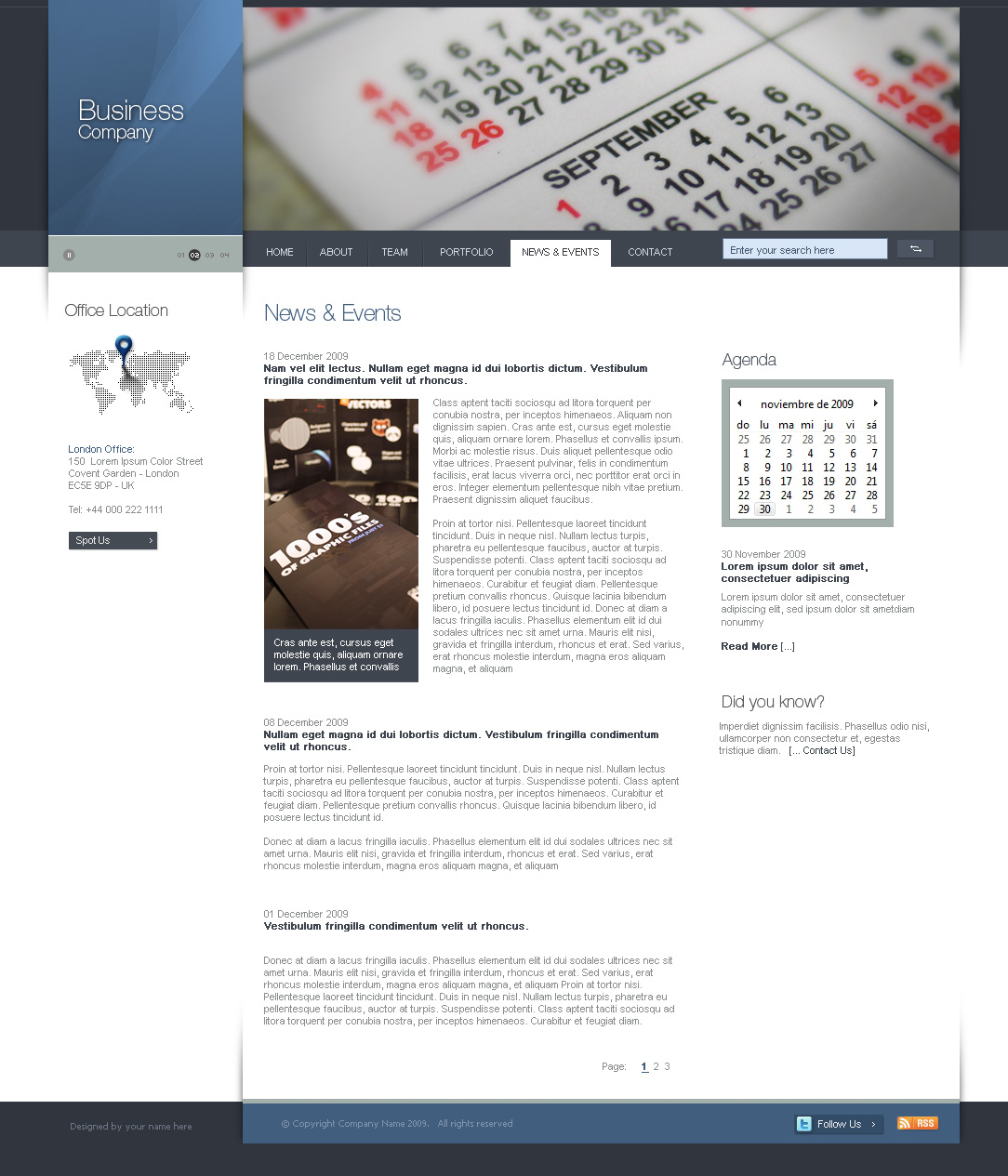 Html Css Flash Psd Business Template Version By Juantomasoli